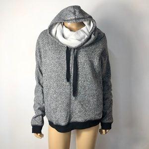 BCBGMaxAzria cowl neck/hoodie pullover sweatshirt